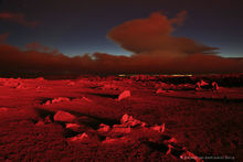 2014, Baugur, Bárðarbunga, Holuhraun, Iceland, Mars, crater, erupting, eruption, flow, glow, lava, red, red glow, sky