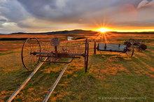 Modrudalur farm autumn sunset
