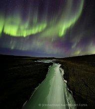 Aurora Borealis,Hvítá,Hvítá River,Iceland,Icelandic,Northern Lights,aurora,geomagnetic storm,ice,river,storm,winter,,Hvítá,Hvítá River