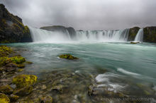 Godafoss Waterfall in northern Iceland during Autumn