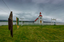 Quaint Icelandic church in the north of Iceland