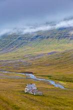 Farmhouse on a dreary day in northern Iceland
