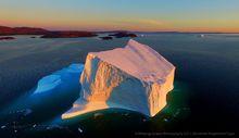 Qasigiannguit,iceberg,Disco Bay,Greenland,giant,Qasigiannguit iceberg