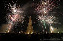 New Years 2014 celebrations in Reykjavik