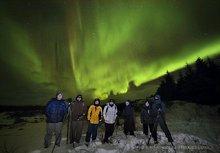 New Years 2014 group photo under Auroras