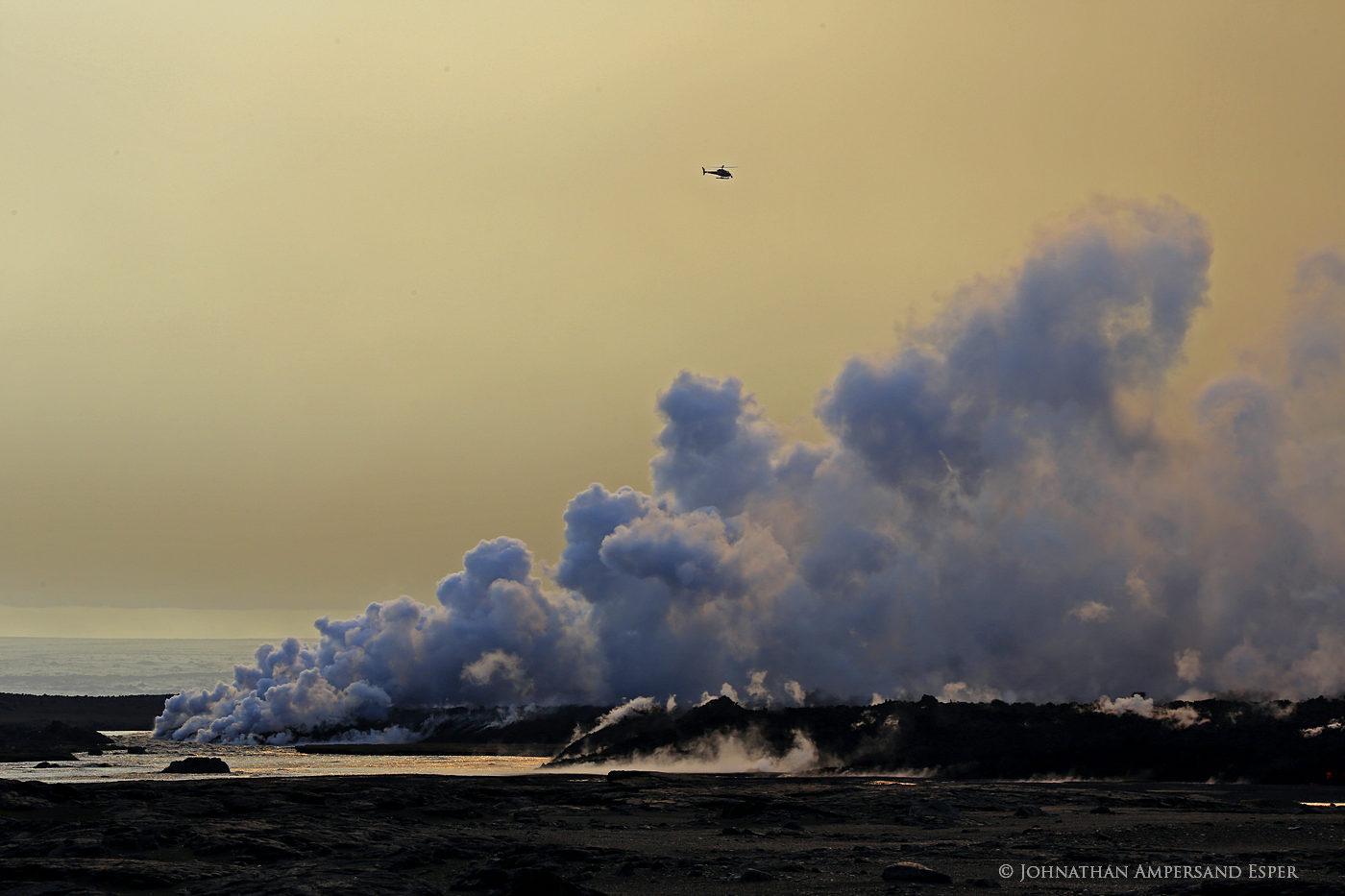 2014, Baugur, Bárðarbunga, Holuhraun, Iceland, Jokulsa a Fjollum, Jökulsá á Fjöllum, crater, erupting, eruption, flow, gas cloud, lava, river, sulfur dioxide, toxic gases, photo