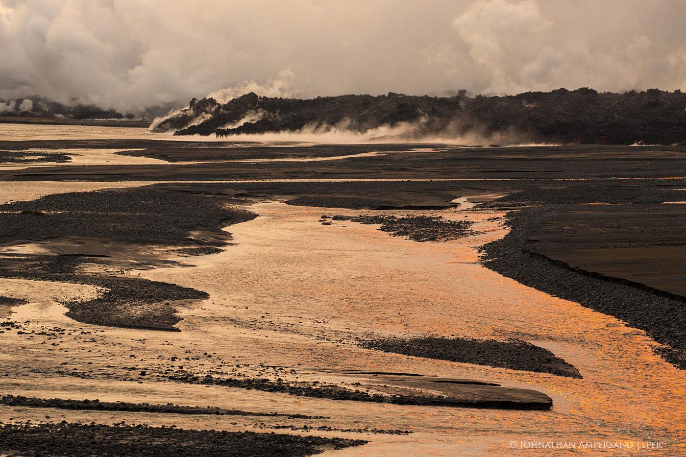 2014, Baugur, Bárðarbunga, Holuhraun, Iceland, Jokulsa a Fjollum, Jökulsá á Fjöllum, crater, erupting, eruption, flow, lava, river, photo