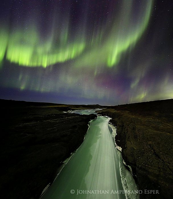 Aurora Borealis,Hvítá,Hvítá River,Iceland,Icelandic,Northern Lights,aurora,geomagnetic storm,ice,river,storm,winter,,Hvítá,Hvítá River, photo